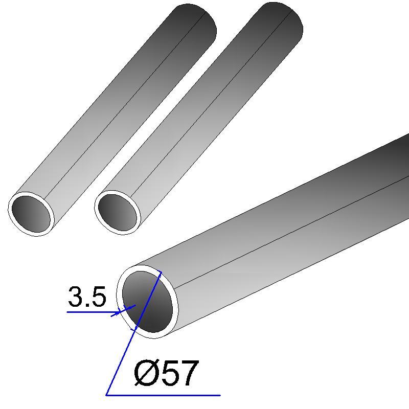 Труба электросварная оцинкованная 57х3,5