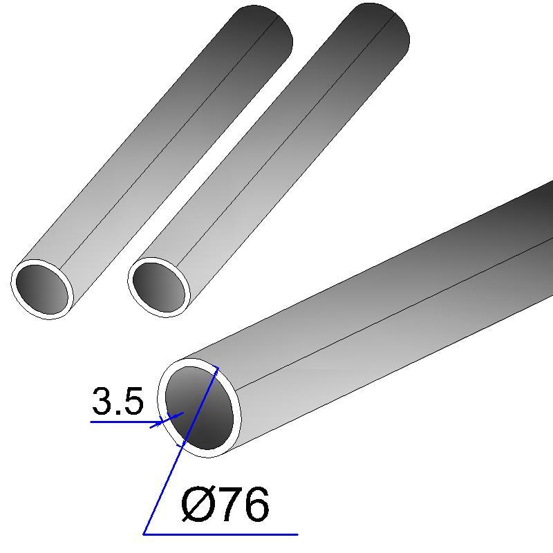 Труба электросварная оцинкованная 76х3,5