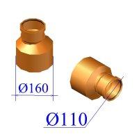 Редуктор ПВХ для наружной канализации 160/110