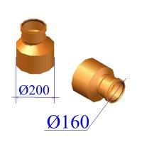 Редуктор ПВХ для наружной канализации 200/160