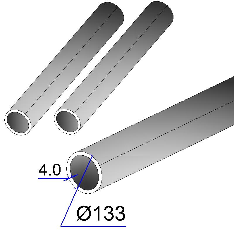 Труба электросварная оцинкованная 133х4,0
