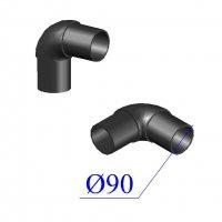 Отвод ПНД литой D 90 х90 гр. ПЭ 100 SDR 11
