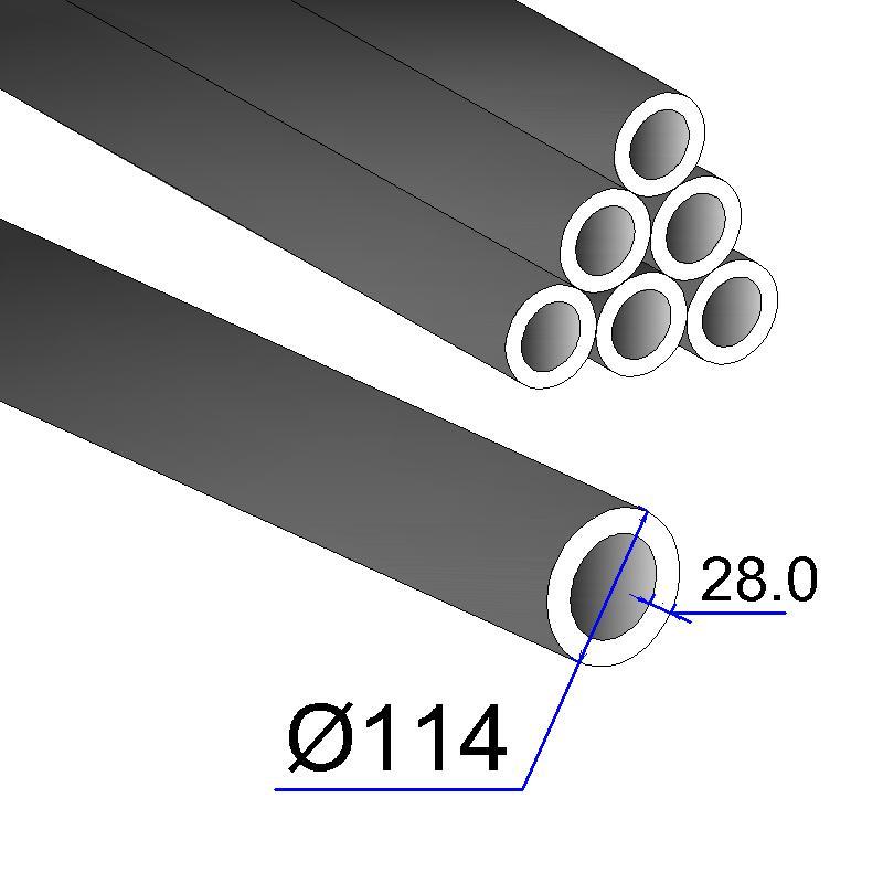 Труба бесшовная 114х28 сталь 45