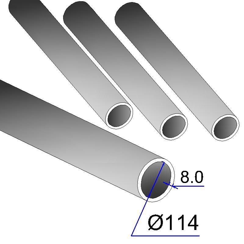 Труба бесшовная 114х8 сталь 20