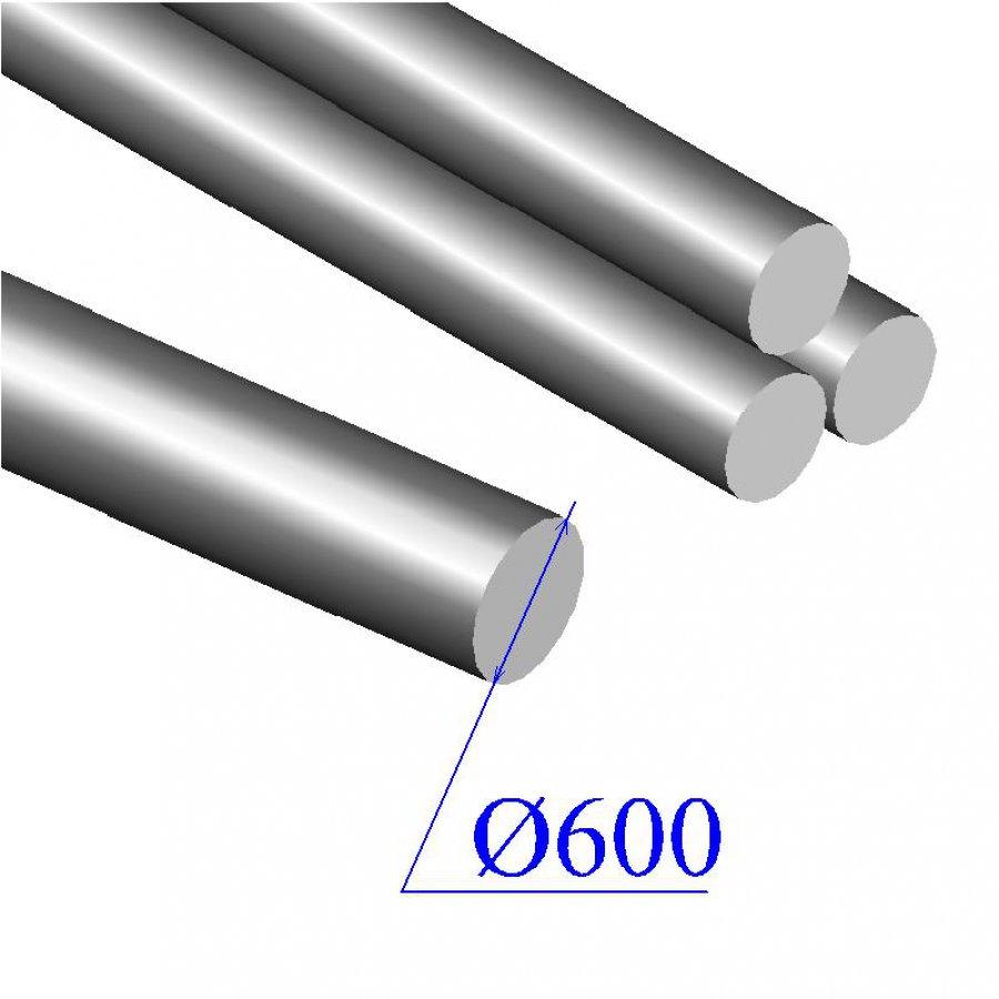 Круг кованый диаметр 600+/-12 мм сталь 40Х