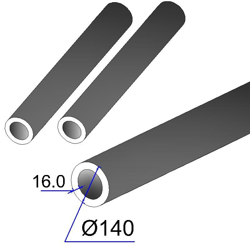 Труба бесшовная 140х16 сталь 35