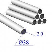 Трубы нержавеющие электросварные сталь 08Х18Н10Т 38х2