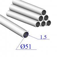 Трубы нержавеющие электросварные сталь 08Х18Н10 51х1.5
