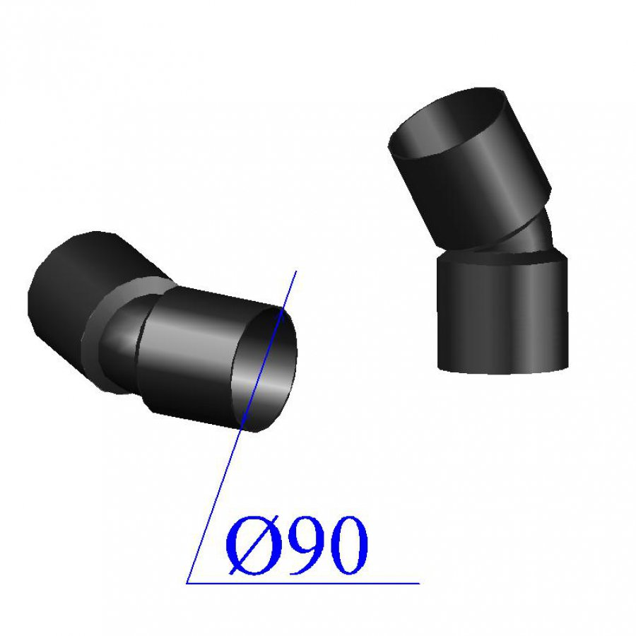 Отвод ПНД электросварной D 90 х30 гр. ПЭ 100 SDR 11