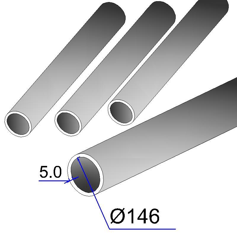 Труба бесшовная 146х5 сталь 20