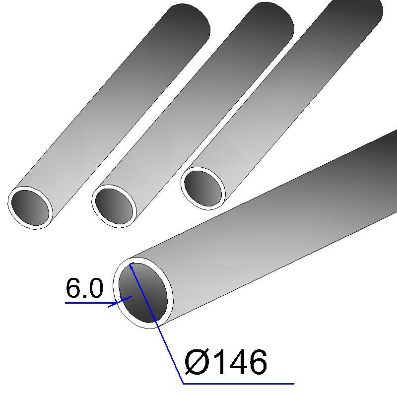 Труба бесшовная 146х6 сталь 20