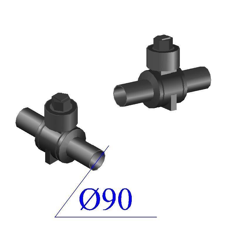Кран шаровый ПНД D 90 ПЭ 100 SDR 11
