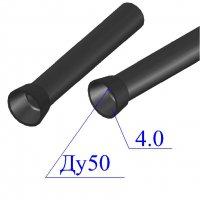 Труба чугунная D 50х4,0 канализационная