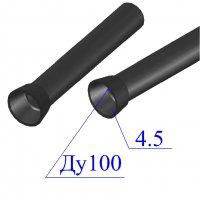 Труба чугунная D 100х4,5 канализационная