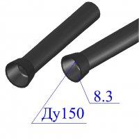 Труба чугунная D 150х8,3 напорная