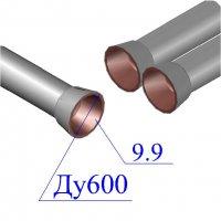 Труба чугунная D 600х9,9 ВЧШГ с ЦПП Тайтон