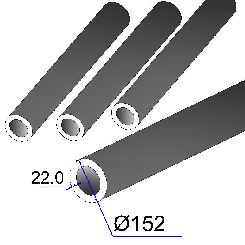 Труба бесшовная 152х22 сталь 45