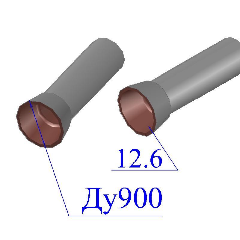 Труба чугунная D 900х12,6 ВЧШГ оцинкованная с ЦПП Тайтон