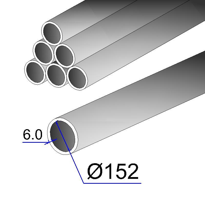 Труба бесшовная 152х6 сталь 20
