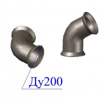 Отвод раструбный ОР D 200 х60 гр. ВЧШГ