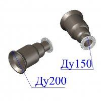 Переход раструб-фланец ХРФ D 200х150 ВЧШГ