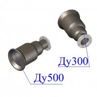 Переход раструб-фланец ХРФ D 500х300 ВЧШГ