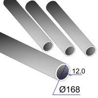 Труба бесшовная 168х12 сталь 20