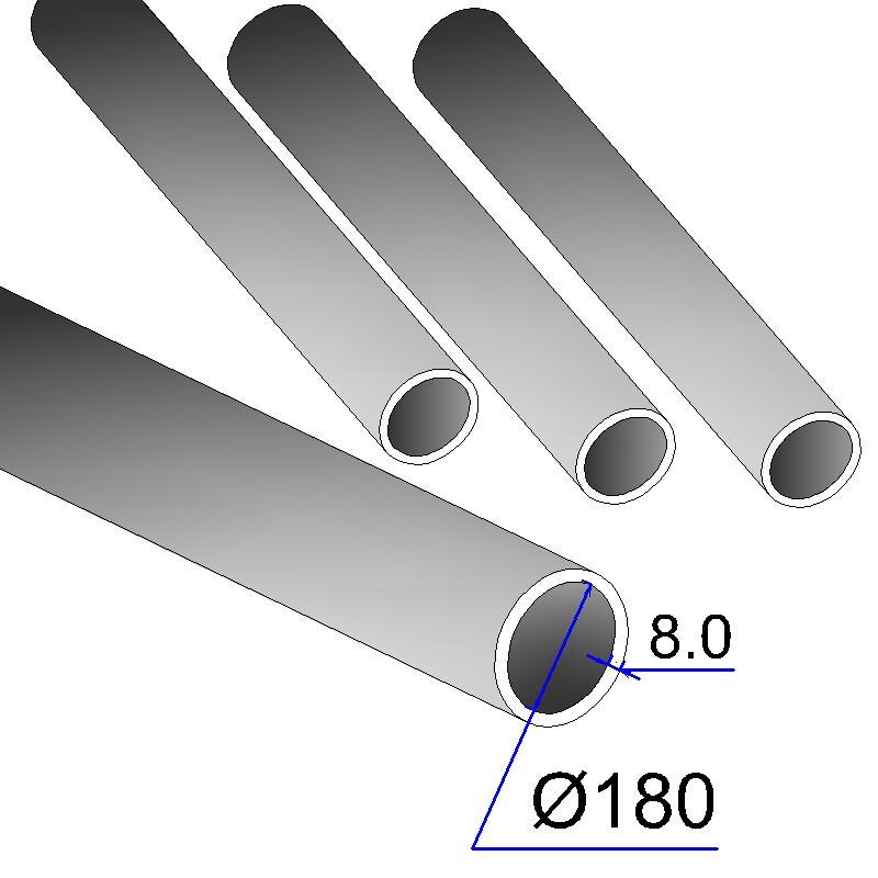 Труба бесшовная 180х8 сталь 20