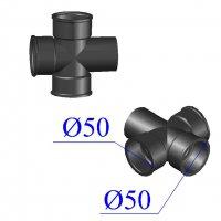 Крестовина чугунная D 50х50 одноплоскостная прямая канализационная