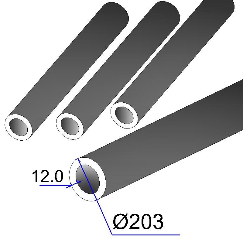 Труба бесшовная 203х12 сталь 20