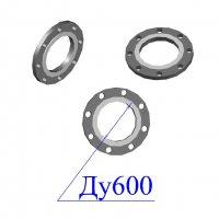 Фланцы 600-10 стальные плоские