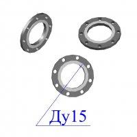 Фланцы 15-10 стальные плоские оцинкованные