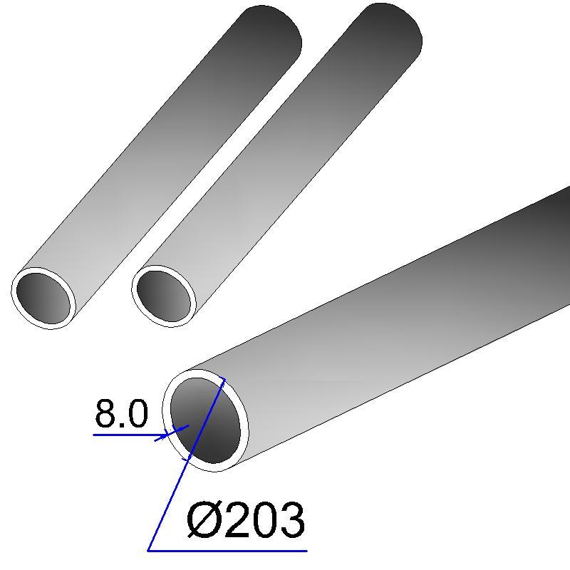 Труба бесшовная 203х8 сталь 20