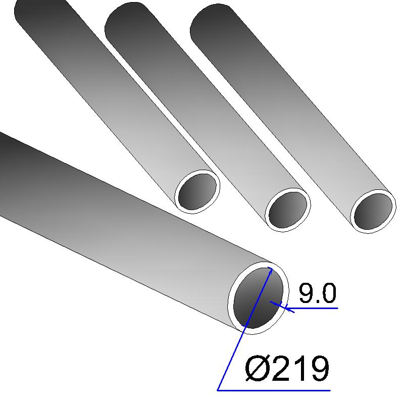 Труба бесшовная 219х9 сталь 20