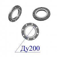Фланцы 200-25 стальные плоские оцинкованные