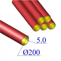 Труба чугунная D 200х5,0 безраструбная SML