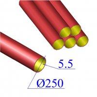 Труба чугунная D 250х5,5 безраструбная SML