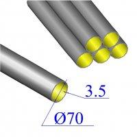 Труба чугунная D 70х3,5 безраструбная KML