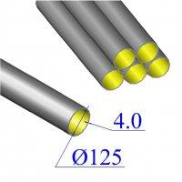 Труба чугунная D 125х4,0 безраструбная KML