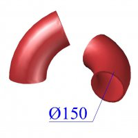 Отвод SML D 150 х68 гр. чугунный