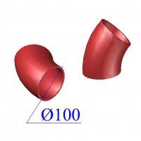 Отвод SML D 100 х45 гр. чугунный