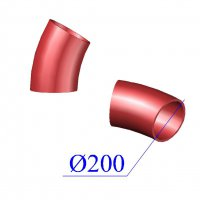 Отвод SML D 200 х30 гр. чугунный