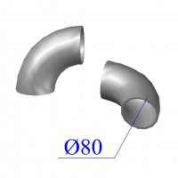 Отвод KML D 80 х88 гр. чугунный
