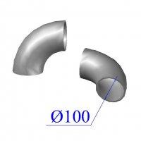 Отвод KML D 100 х88 гр. чугунный