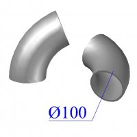 Отвод KML D 100 х68 гр. чугунный