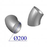 Отвод KML D 200 х45 гр. чугунный