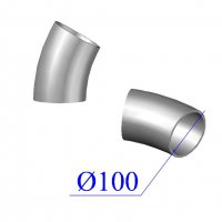 Отвод KML D 100 х30 гр. чугунный