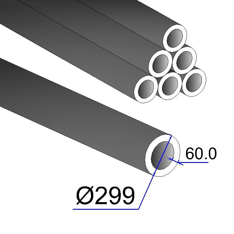 Труба бесшовная 299х60 сталь 35