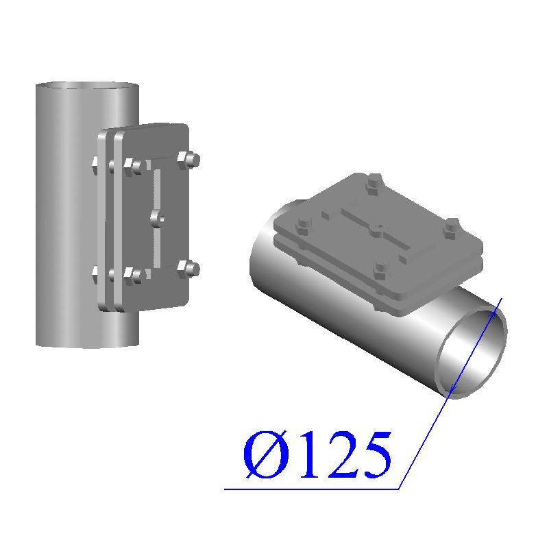 Ревизия KML D 125 прямоугольная чугунная