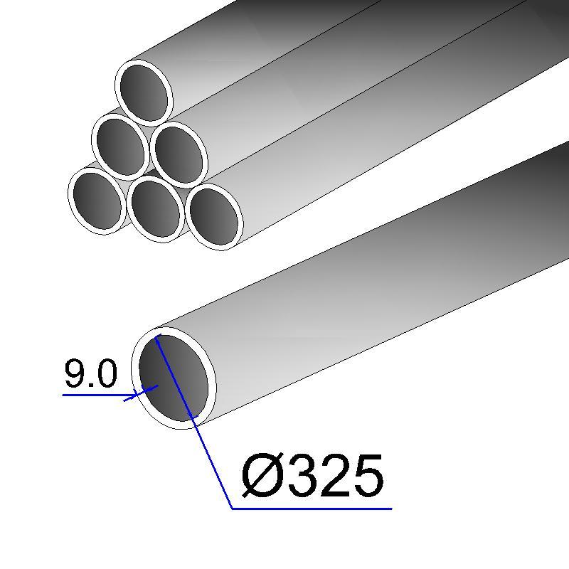 Труба бесшовная 325х9 сталь 20